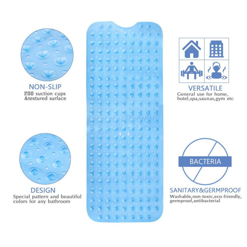 Large Long Non Slip Bathroom Bath Mat for Tub and Shower