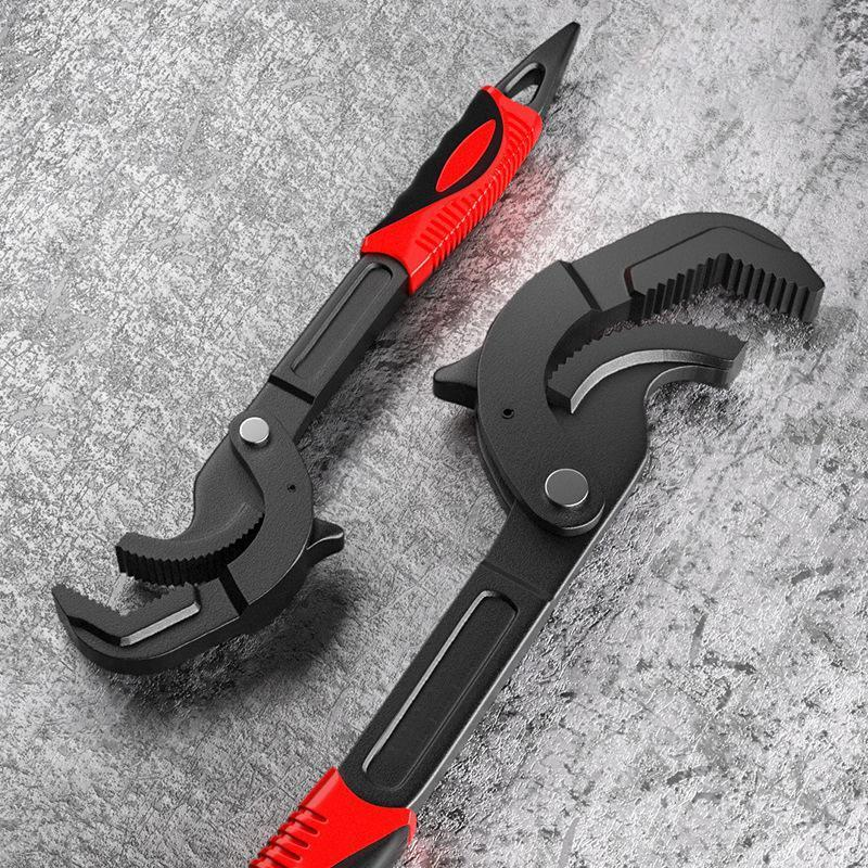 Carbon Steel Adjusting Spanner Power Grip Pipe Wrench