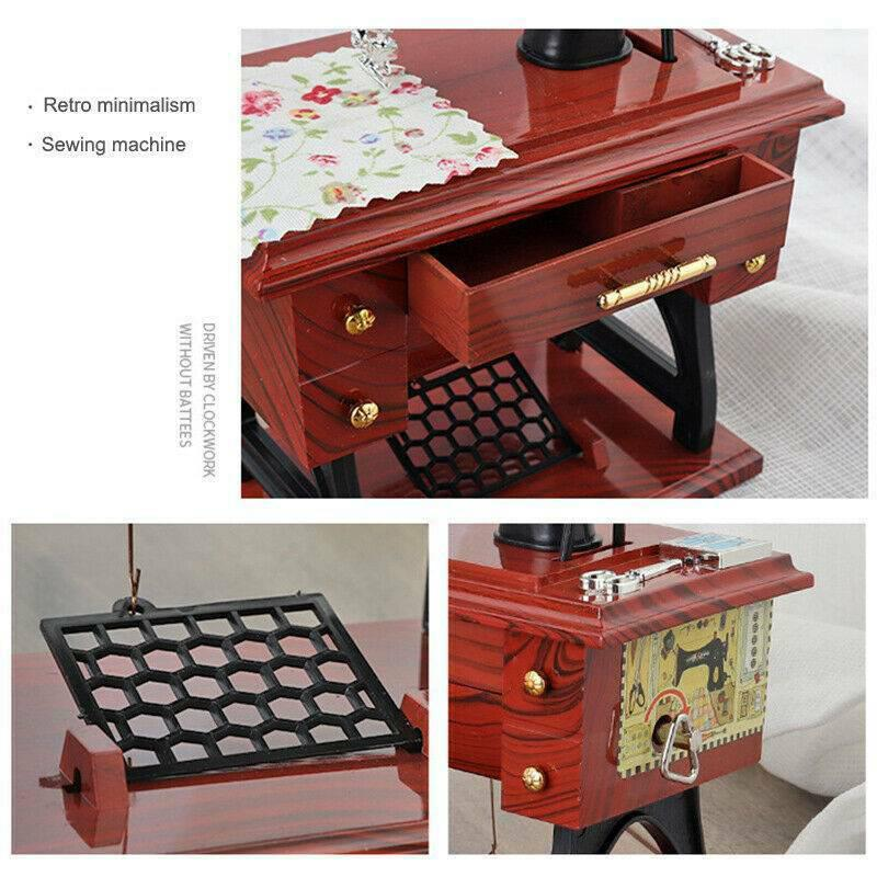 Mini Treadle Sewing Machine Music Box
