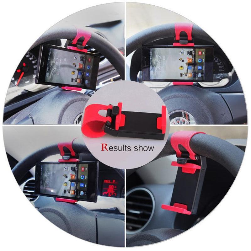 Hirundo Car Steering Universal Mount Phone Holder Stand