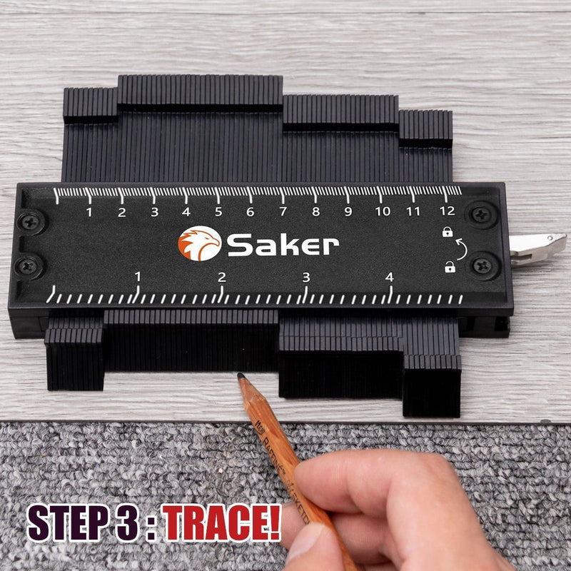 Saker® Profile Gauge with Lock (Black)