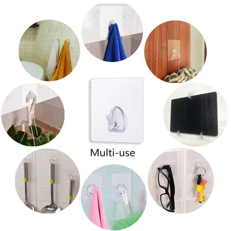 Waterproof Reusable Seamless Sticky Transparent Frosted Hooks