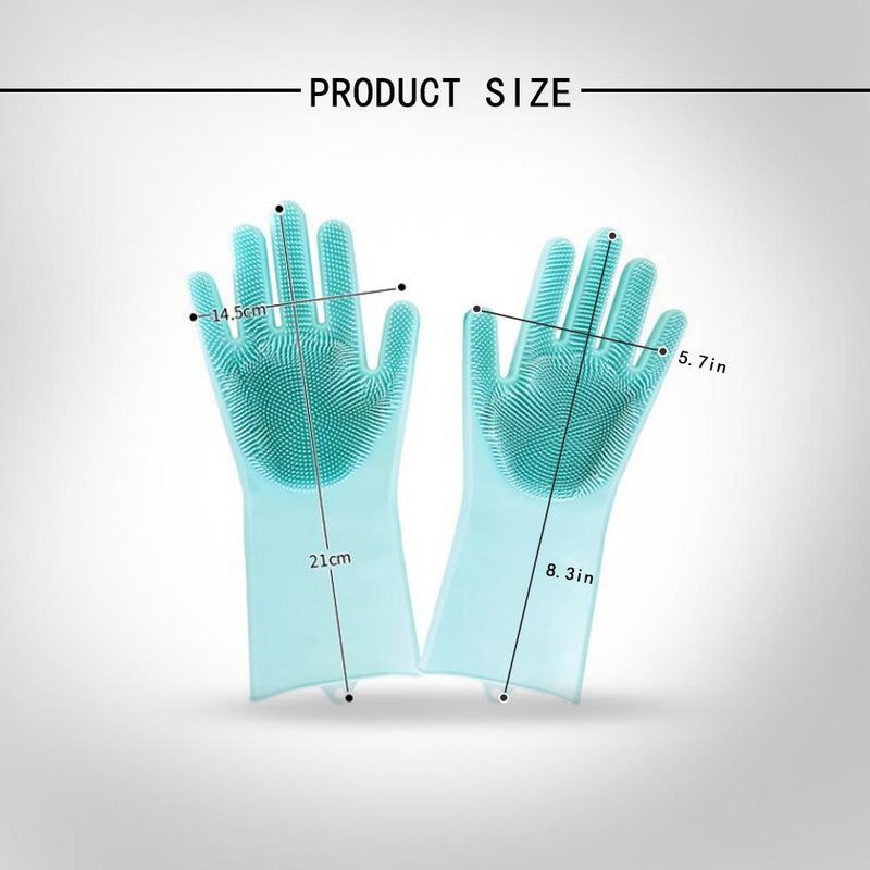 Magic Silicone Washing Gloves,1 Pair