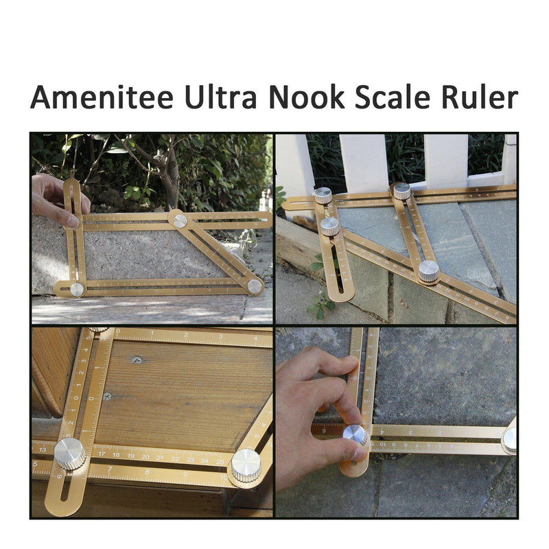 Universal Angularizer Ruler-Upgraded Aluminum, LUXURY CHAMPAGNE GOLD