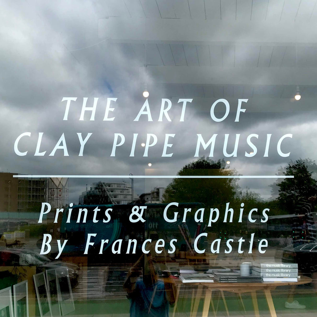 exhibition of works by talented illustrator, musician and record label founder Frances Castle. Frances' work has been familiar to us for quite some time, as we own several of her beautifully designed and illustrated LPs which have been put out through her Clay Pipe imprint.