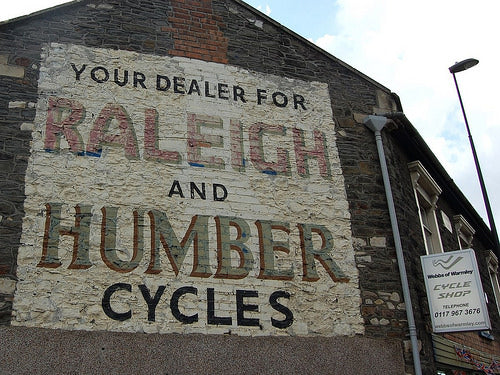 A sign painted by the late Cliff Headford.