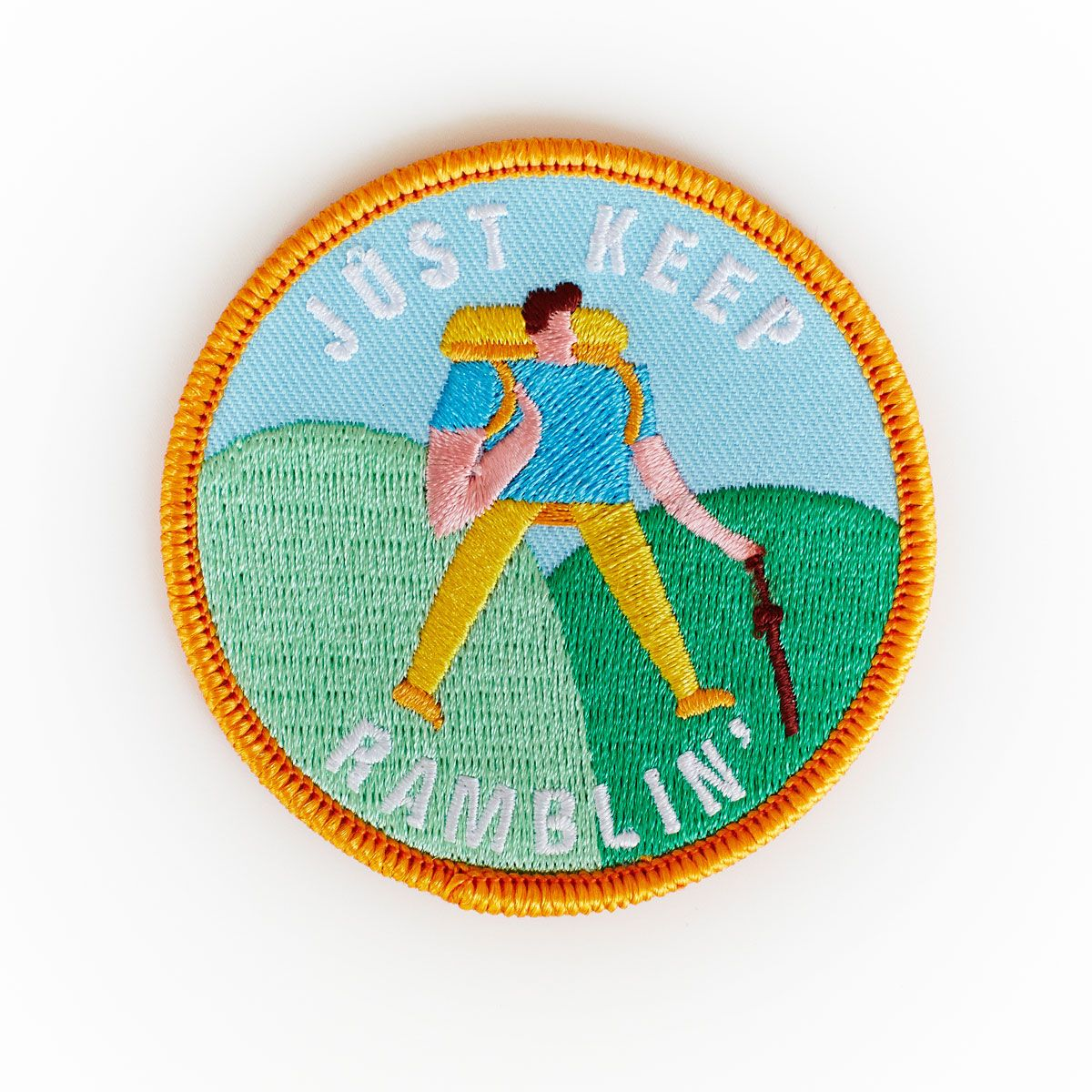 Just Keep Ramblin' patch by Lucy Ketchin