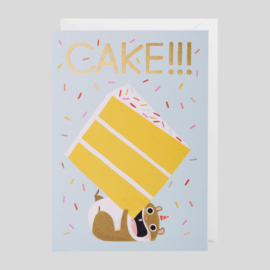 Allison Black for Lagom  - Cake Hamster Card. - Colours May Vary