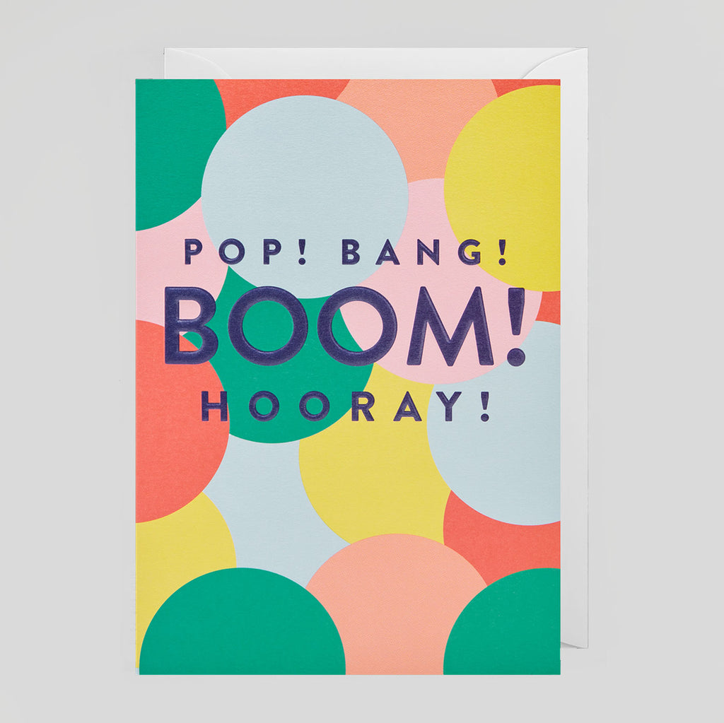 Postco for Lagom - Pop! Bang! Boom! Hooray! Card - Colours May Vary