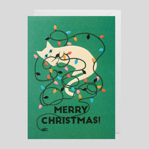 Naomi Wilkinson for Lagom | Merry Christmas Kitty Card 6642 | Colours May Vary