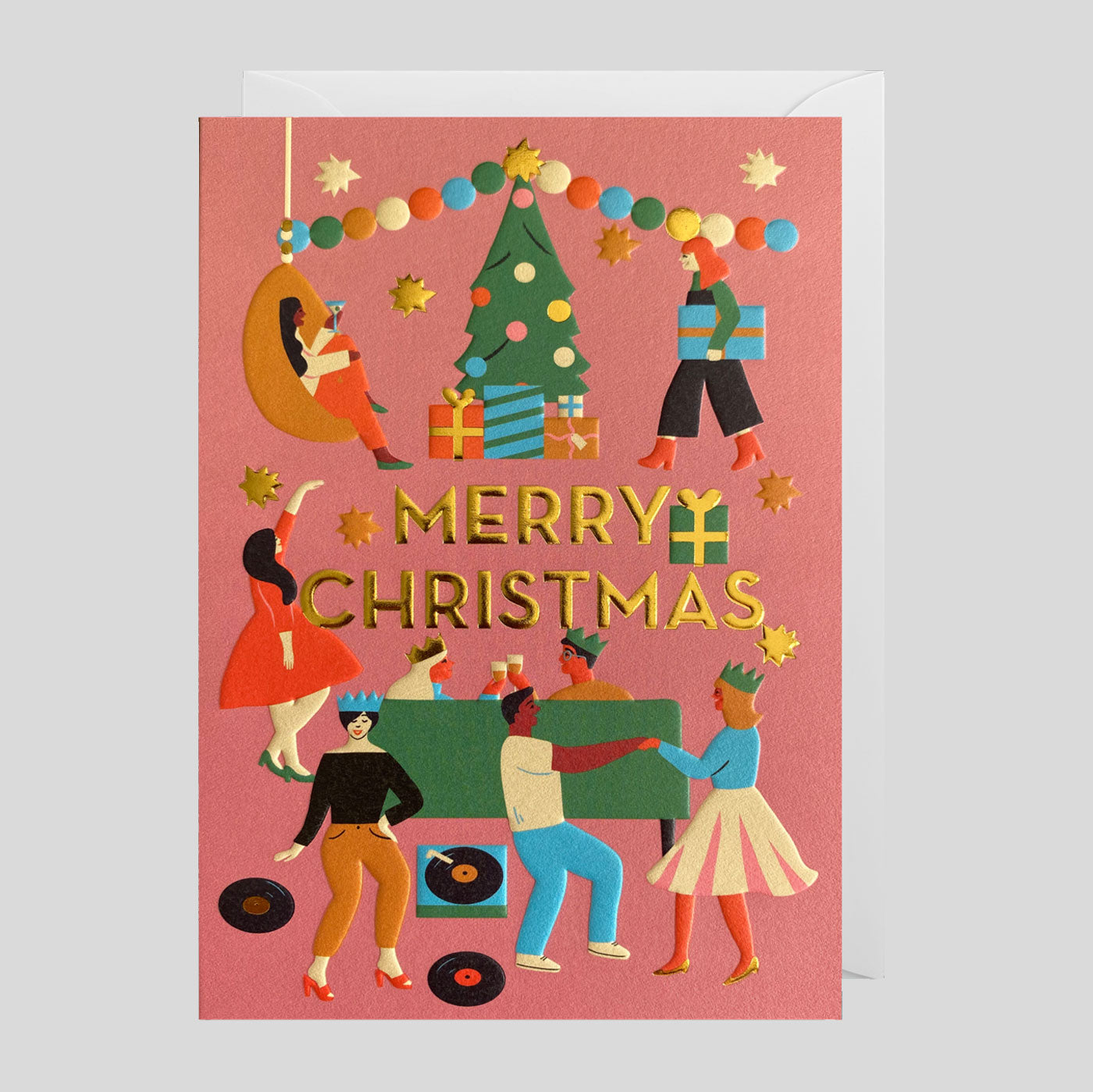 Naomi Wilkinson for Lagom | Merry Christmas Party Card | Colours May Vary