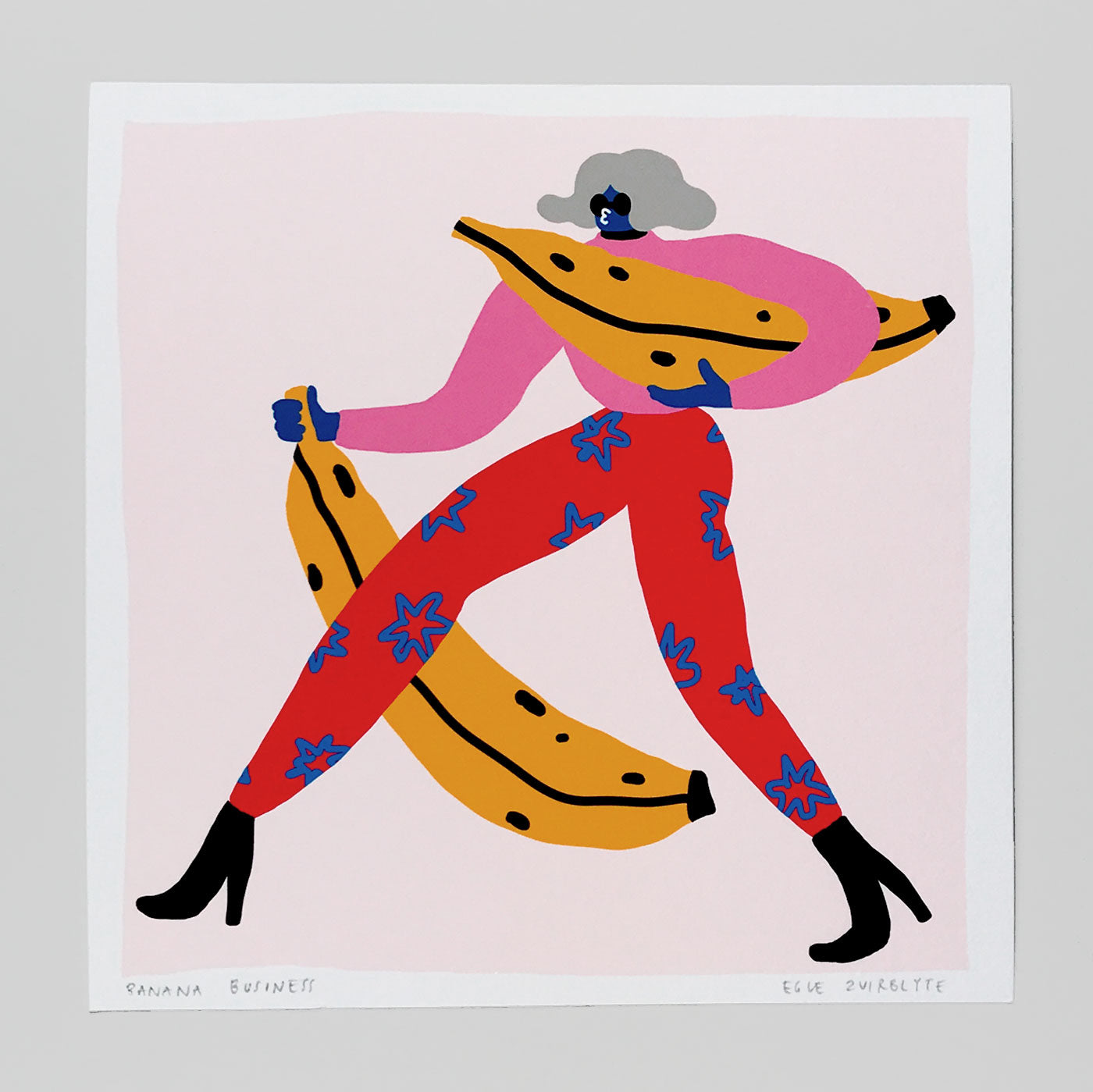 Banana Business Print By Egle Zvirblyte