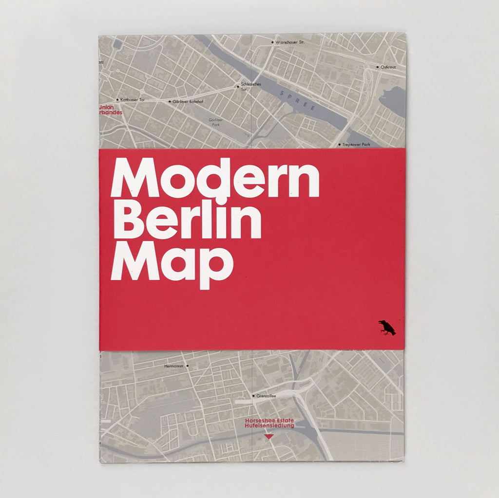 Modern Berlin Map - Blue Crow