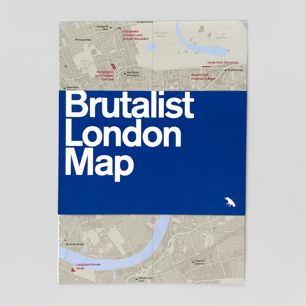 Brutalist London Map - Blue Crow