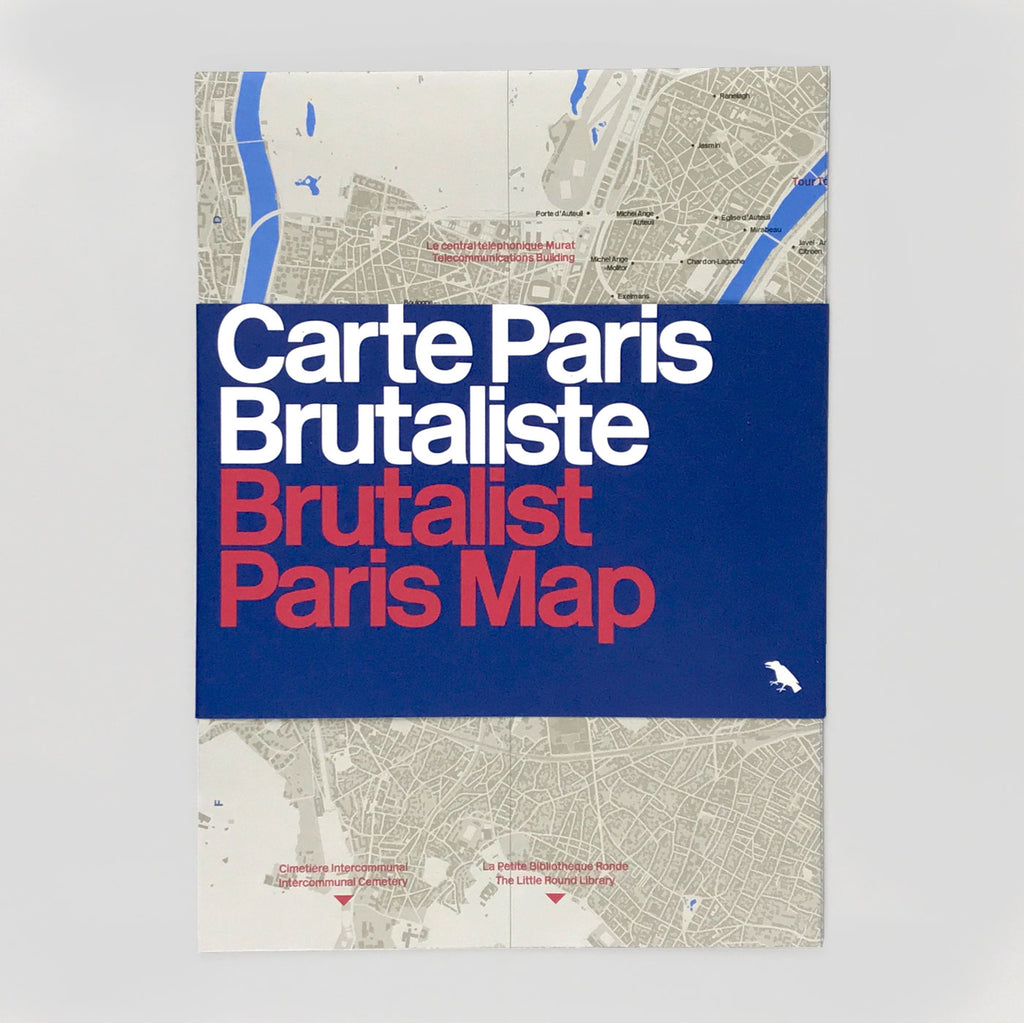 Brutlaist Paris Map / Carte Paris Brutaliste - Blue Crow