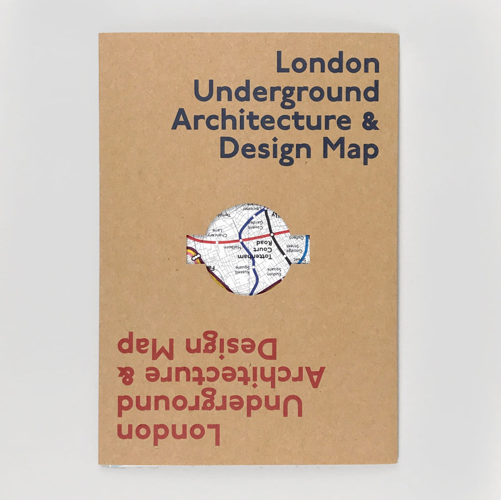 London Underground Architecture & Design Map - Blue Crow
