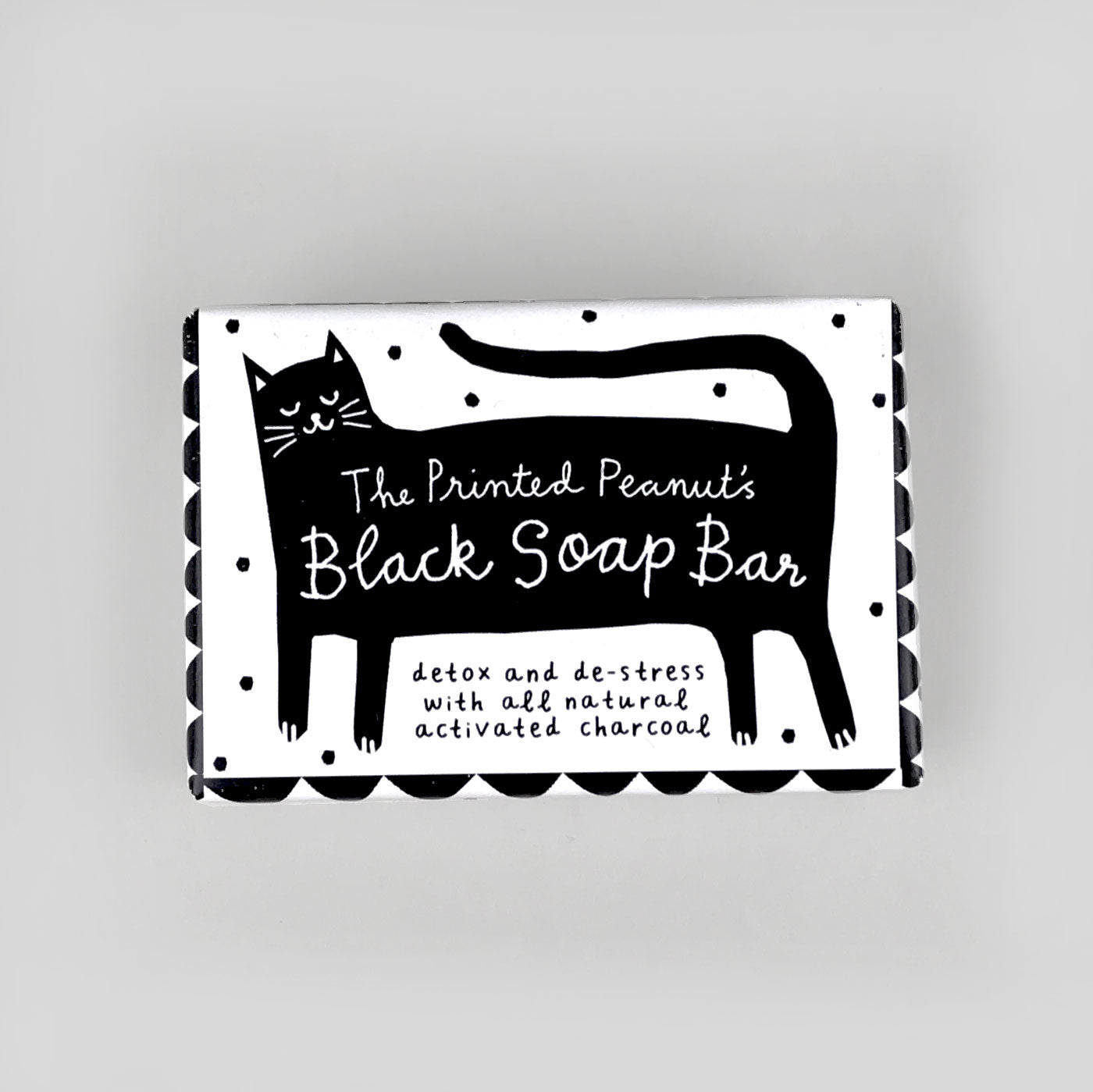 Printed Peanut Black Soap bar