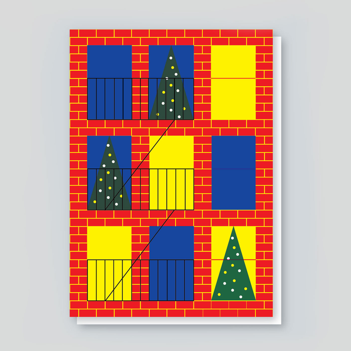 Paul Farrell 'Brooklyn Xmas Window' Card