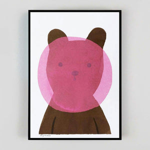 Lisa Jones 'Bubblegum Bear' Riso Print