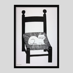 Cat Nap Print By Lisa Jones