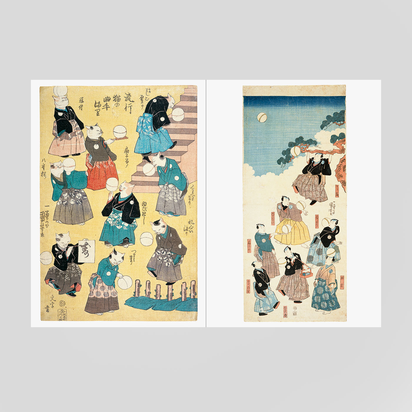 Cats by Kuniyoshi: Ukiyo-e Paper Book