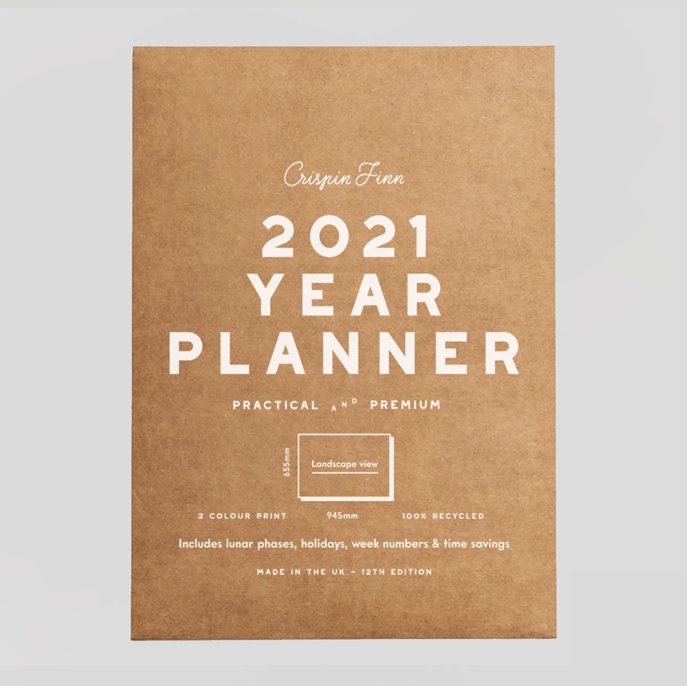 Crispin Finn Wall Planner 2021 - Classic Landscape | Colours May Vary