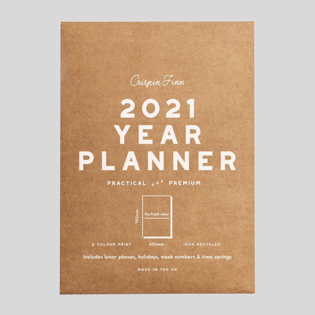 Crispin Finn Wall Planner 2021 - New Portrait! | Colours May Vary