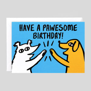 Alice Bowsher For Wrap - 'Pawesome Birthday' Card - Colours May Vary