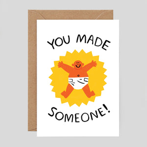 Cari Vander Yacht For Wrap - 'You Made Someone!' Card - Colours May Vary
