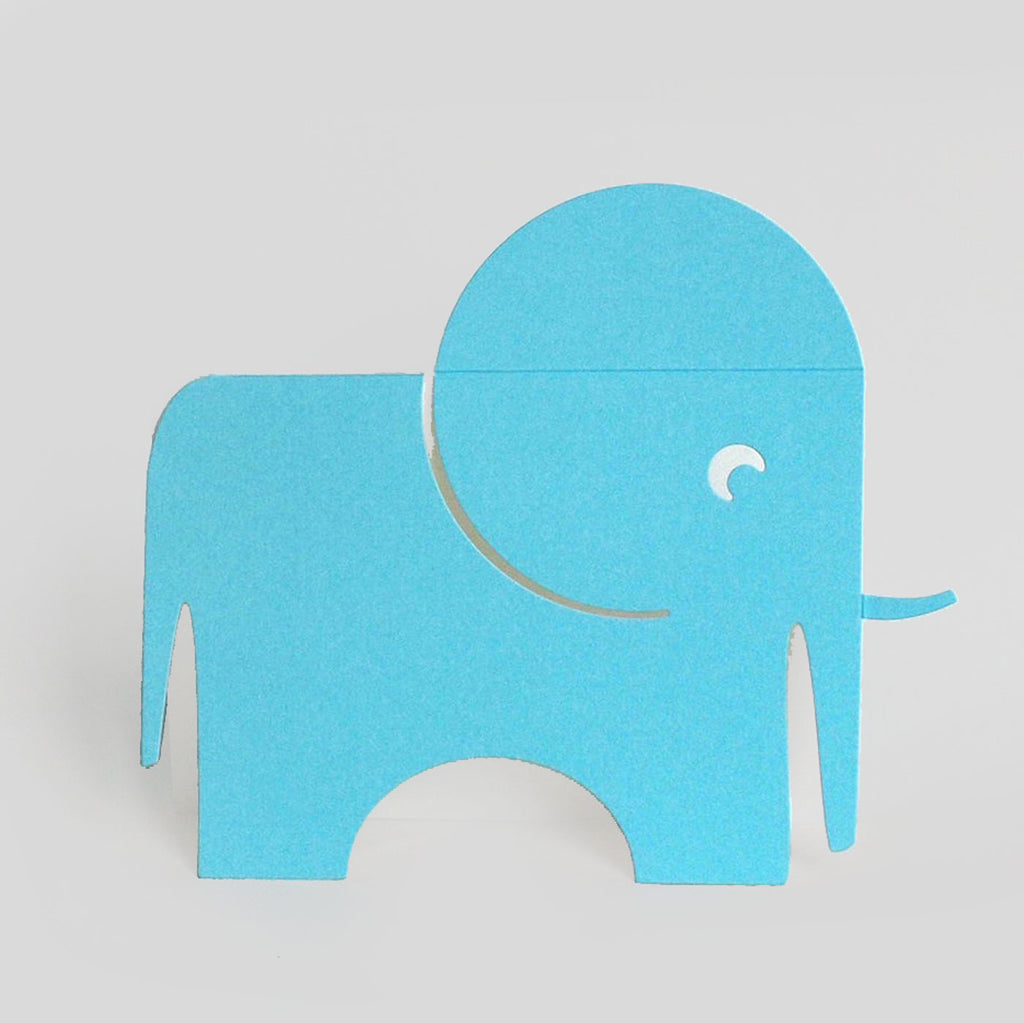 Cut & Make Fold-Out Elephant Card