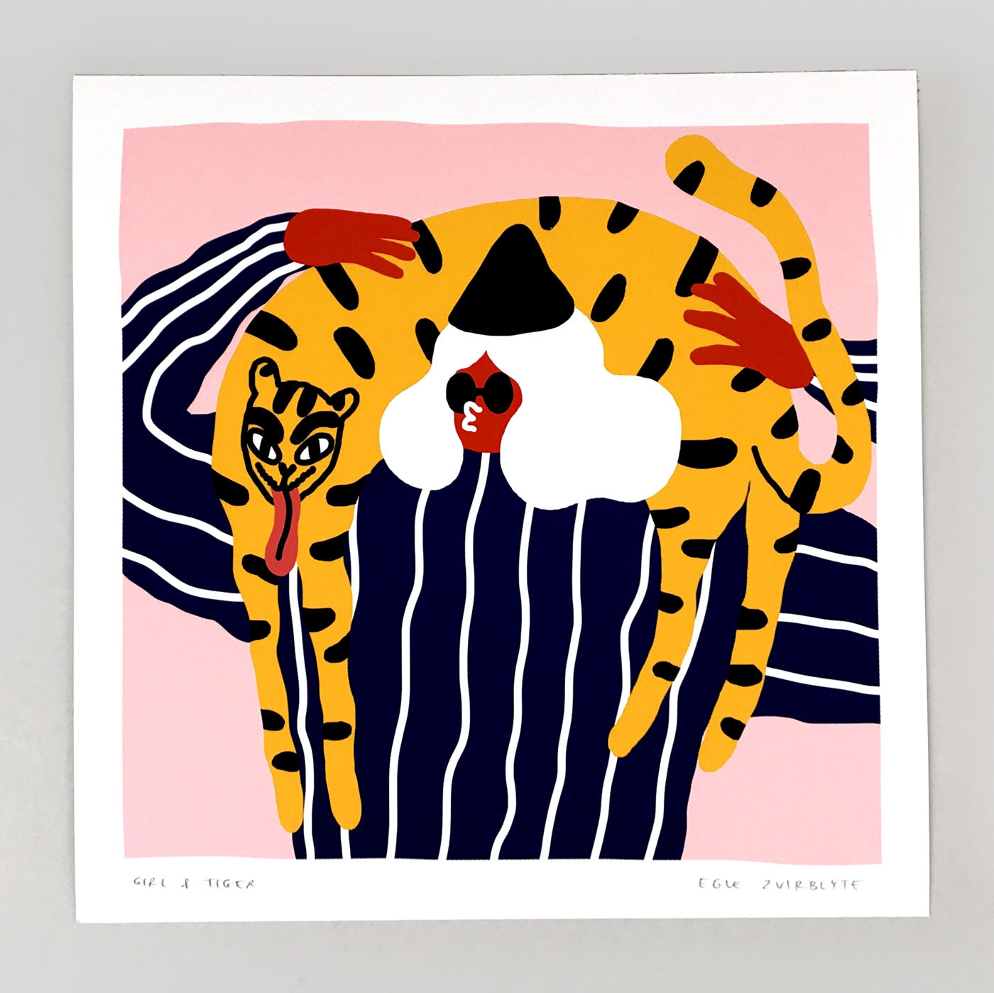 Girl With Tiger giclee print by Egle Zvirblyte