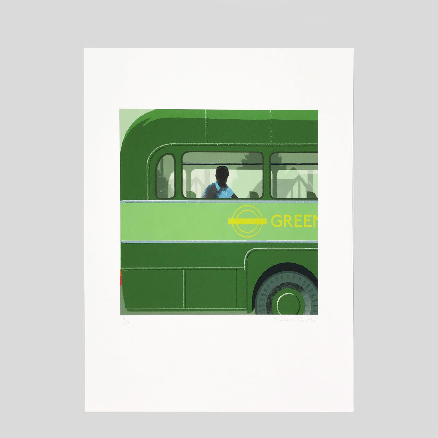 The Green Line Giclee Print - Frances Castle
