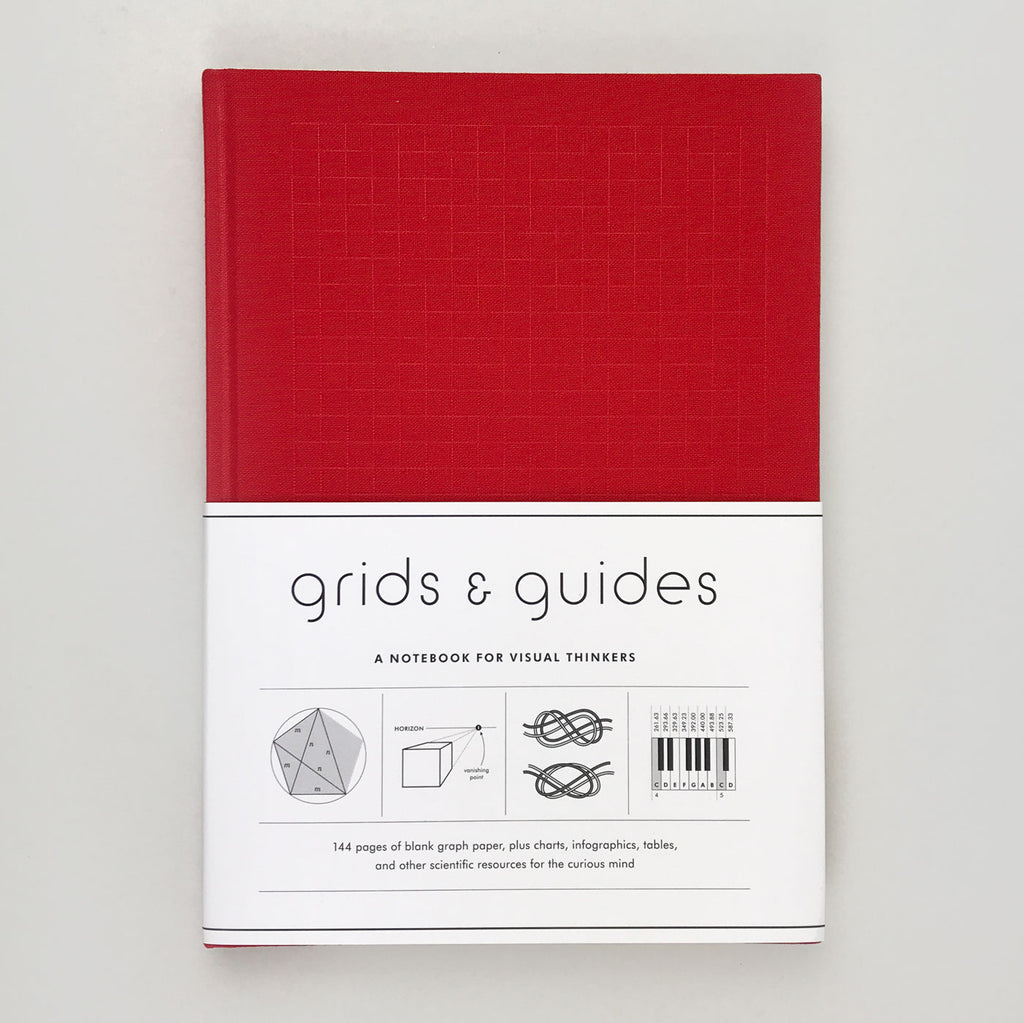 Grids & Guides: A Notebook For Visual Thinkers (Red)