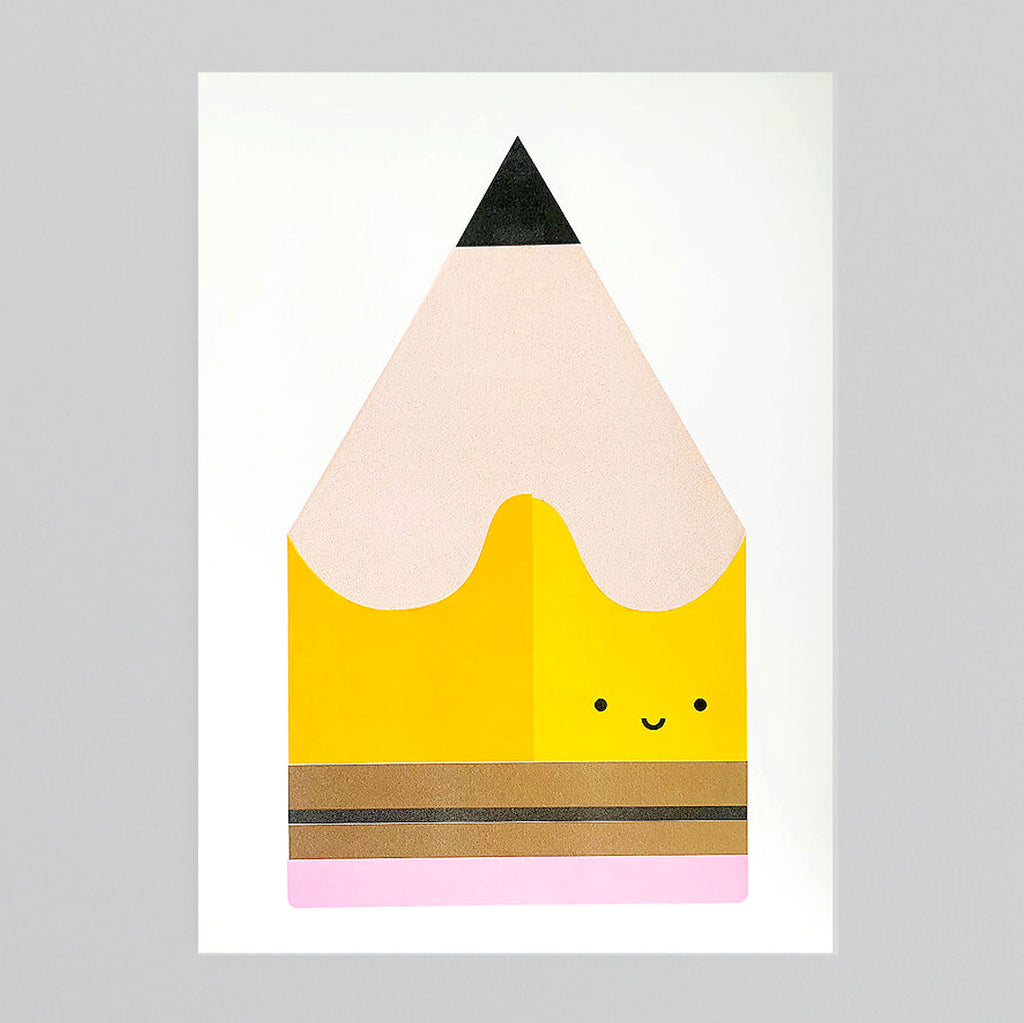 Yellow Pencil A3 Print by Scout Editions