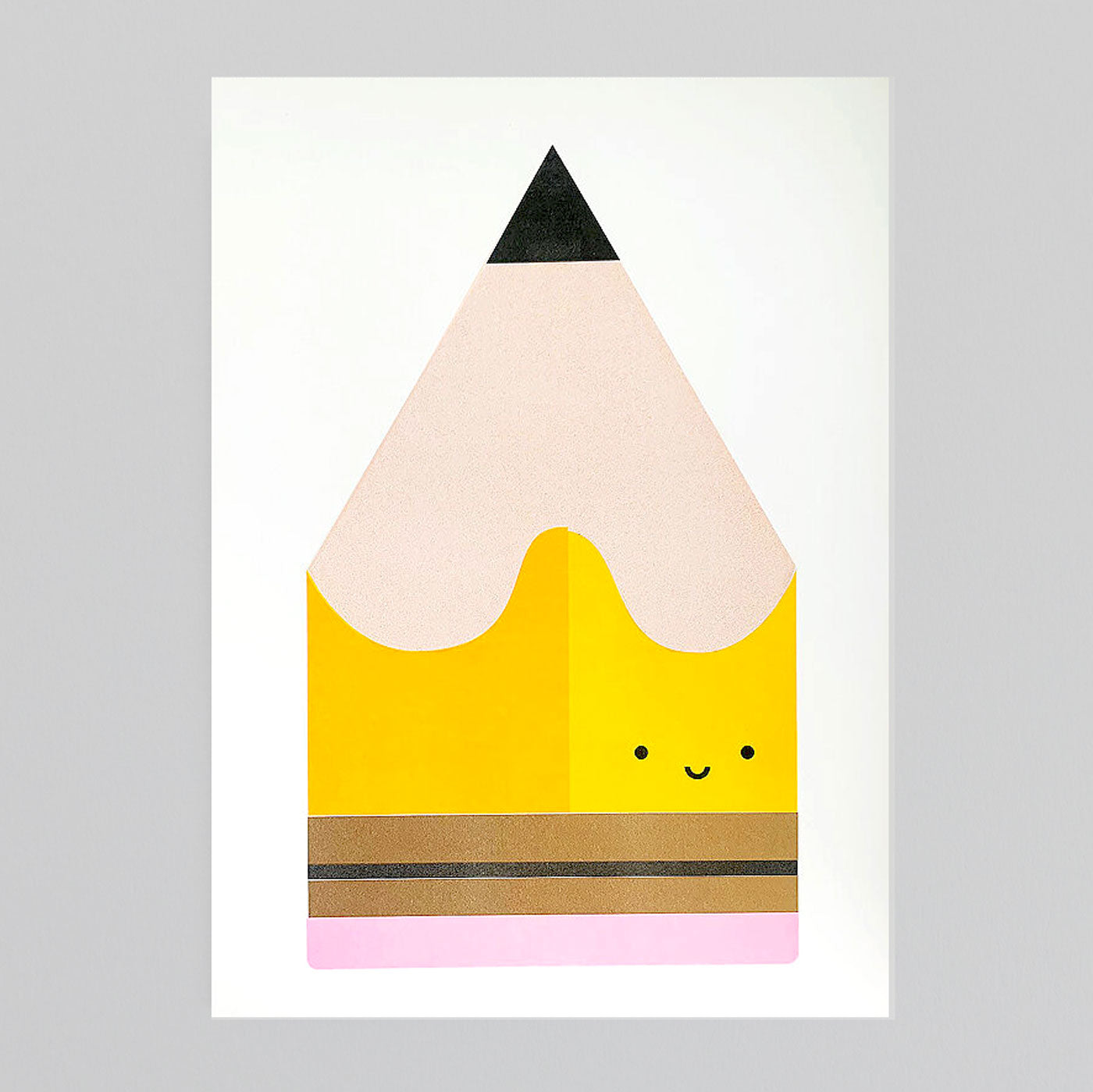 Scout Editions - Pencil Mini Riso Card. (Blue Or Yellow!)