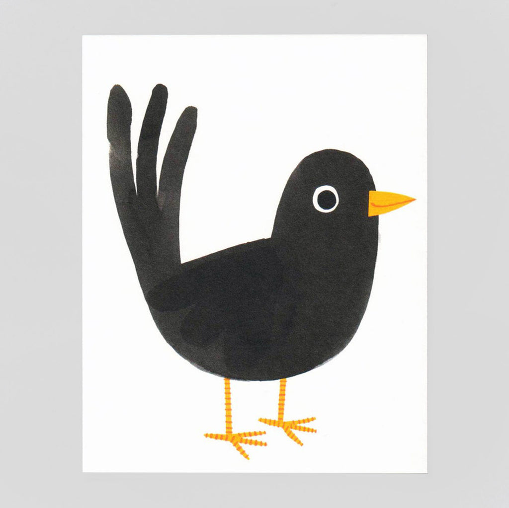 Blackbird Card by Lisa Jones Studio - Colours May Vary