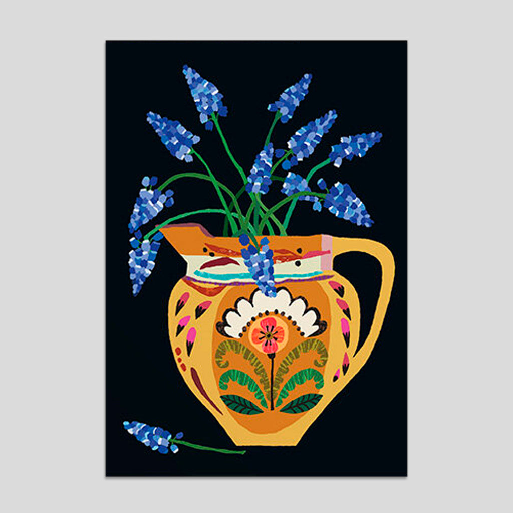Brie Harrison - Muscari Flowers Card