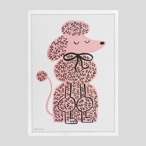 Lisa Jones 'Poodle' Riso Print