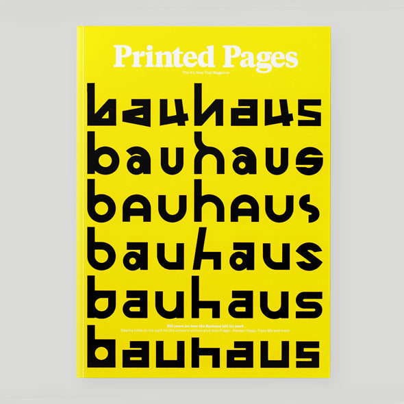 Printed Pages Magazine - Autumn / Winter 2018 yellow cover