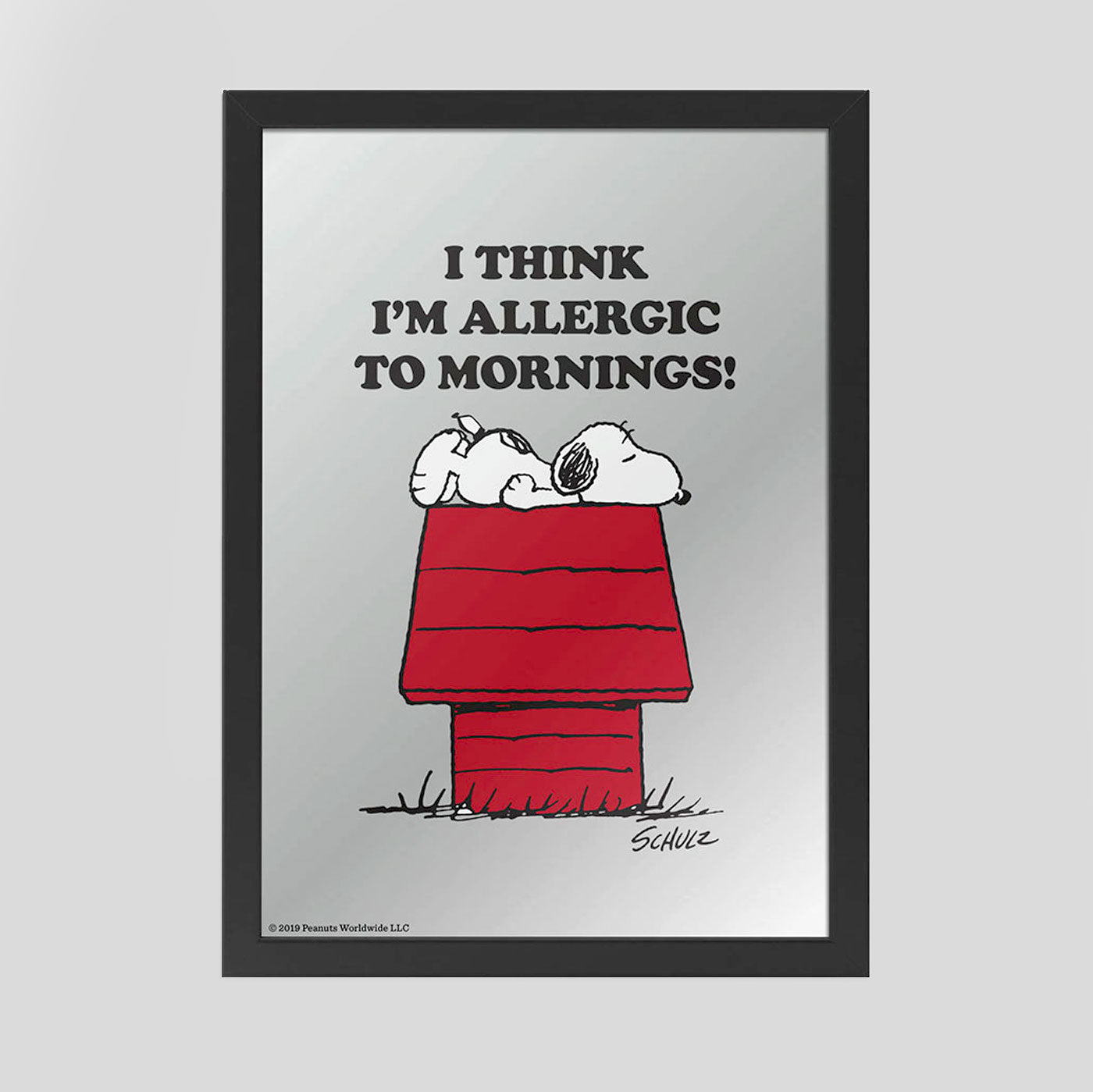 Peanuts Mirror - I Think I'm Allergic To Mornings