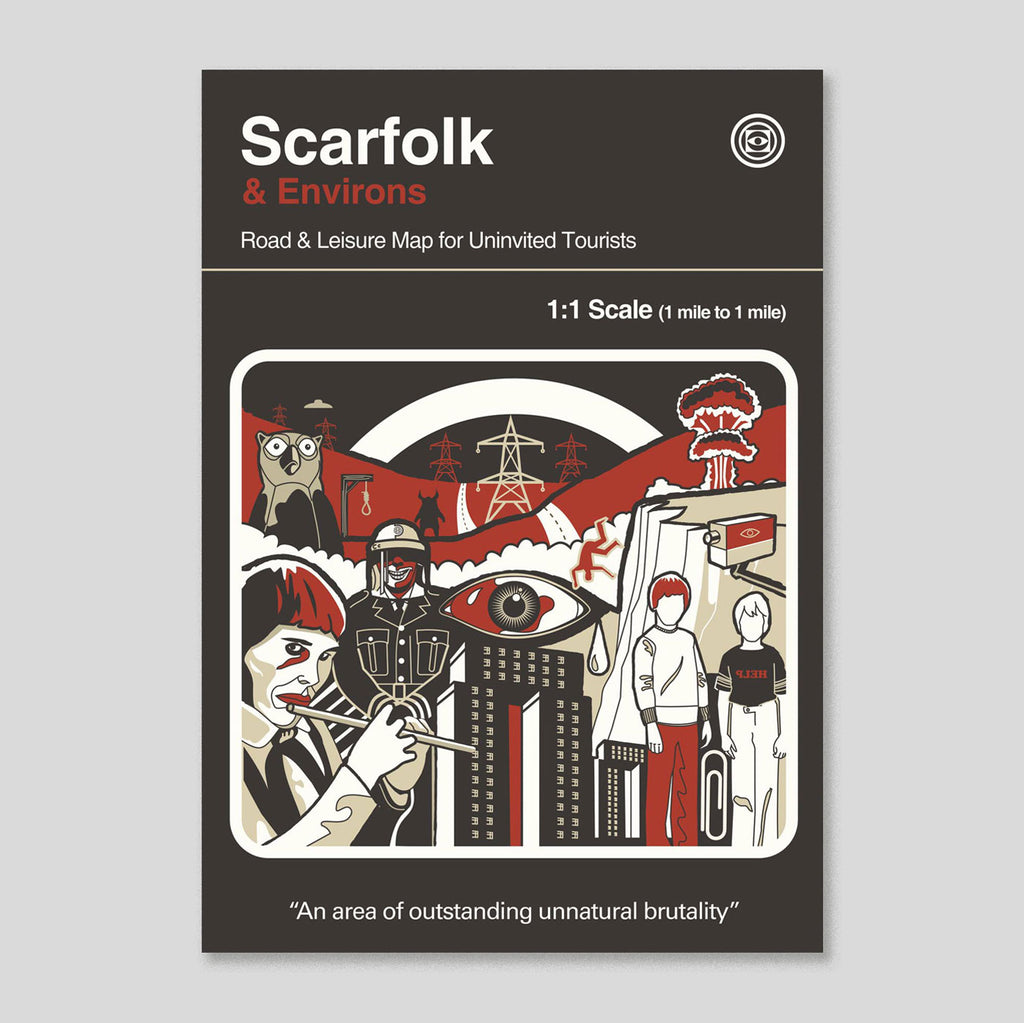 Scarfolk and Environs | Road & Leisure Map for Uninvited Tourists