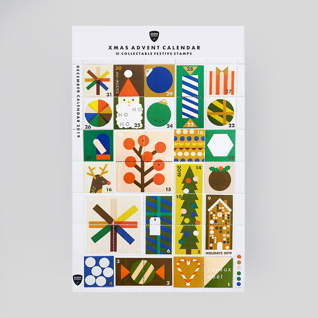Scout Editions Christmas Advent Calendar Stamp Set