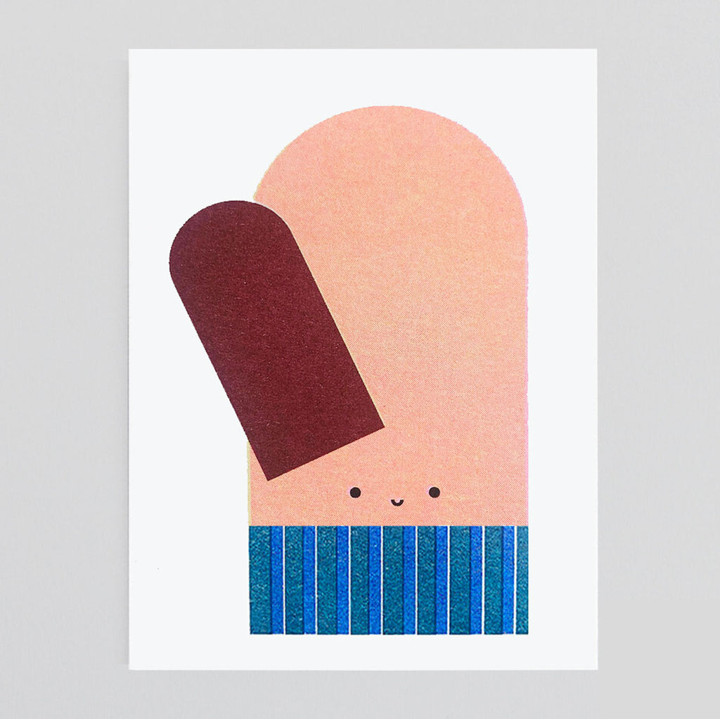Scout Editions - Christmas Mitten Mini Riso Card | Colours May Vary