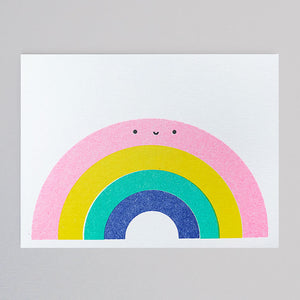 Scout Editions - Rainbow Mini Riso Card  - Colours May Vary