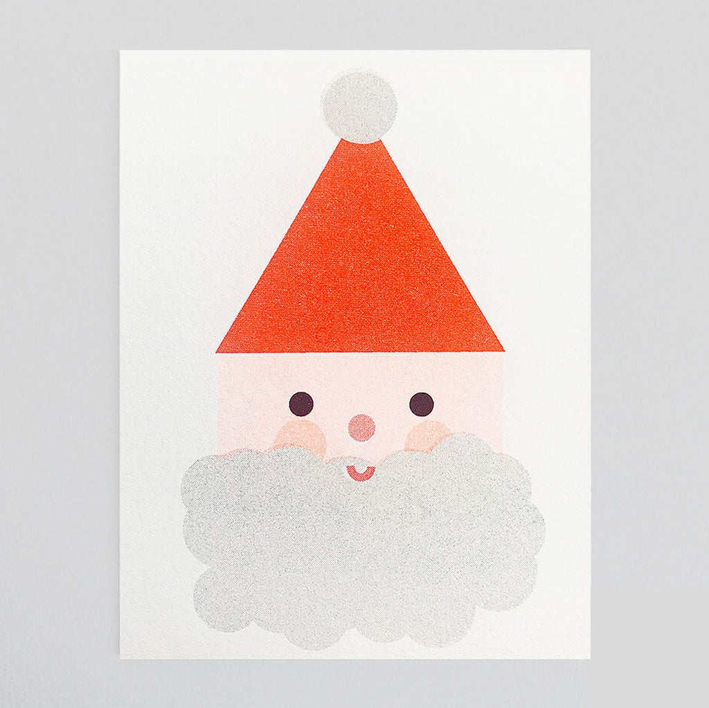 Scout Editions - Christmas Santa Mini Riso Card | Colours May Vary
