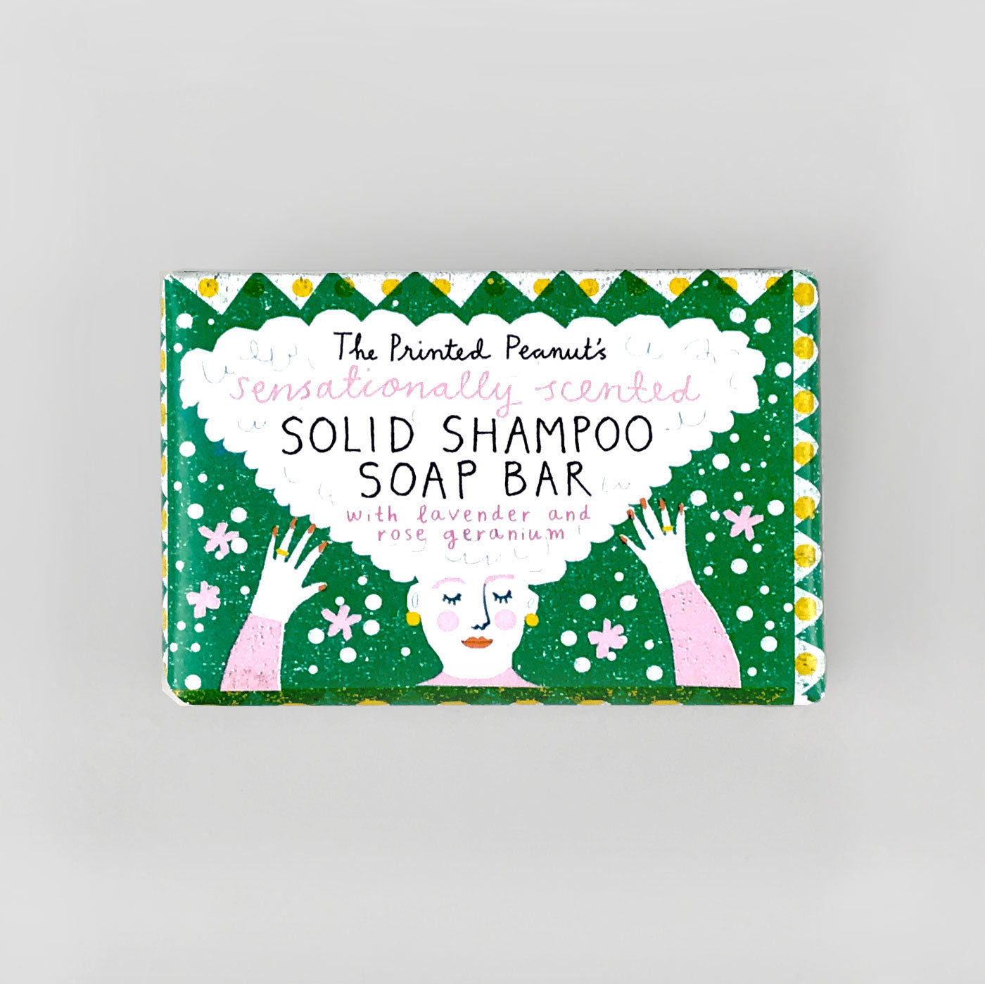The Printed Peanut Solid Shampoo Soap Bar