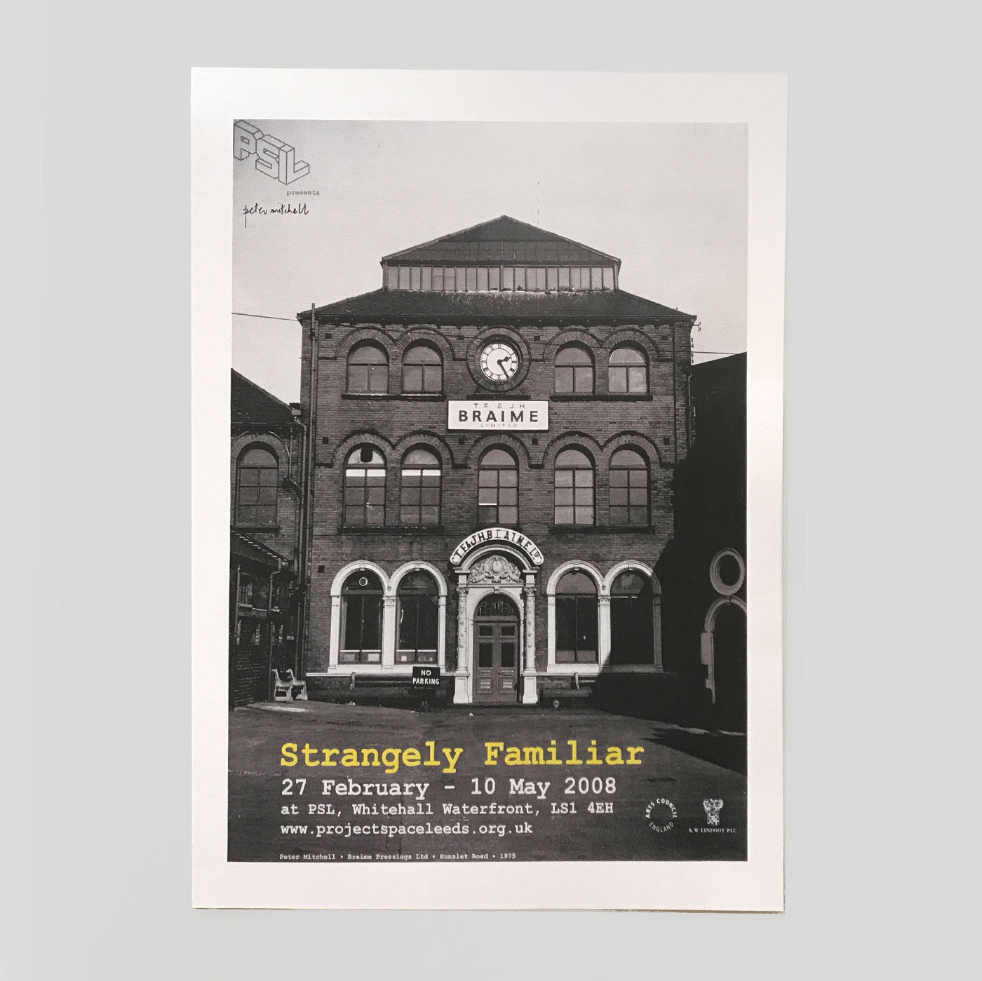 Strangely Familiar - Exhibition Poster (A2) - Peter Mitchell