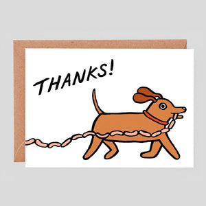 Alice Bowsher for Wrap | Thanks! Sausage Thief Card