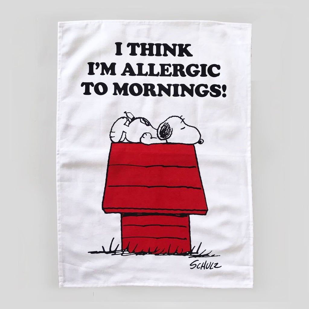 snoopy tea towel