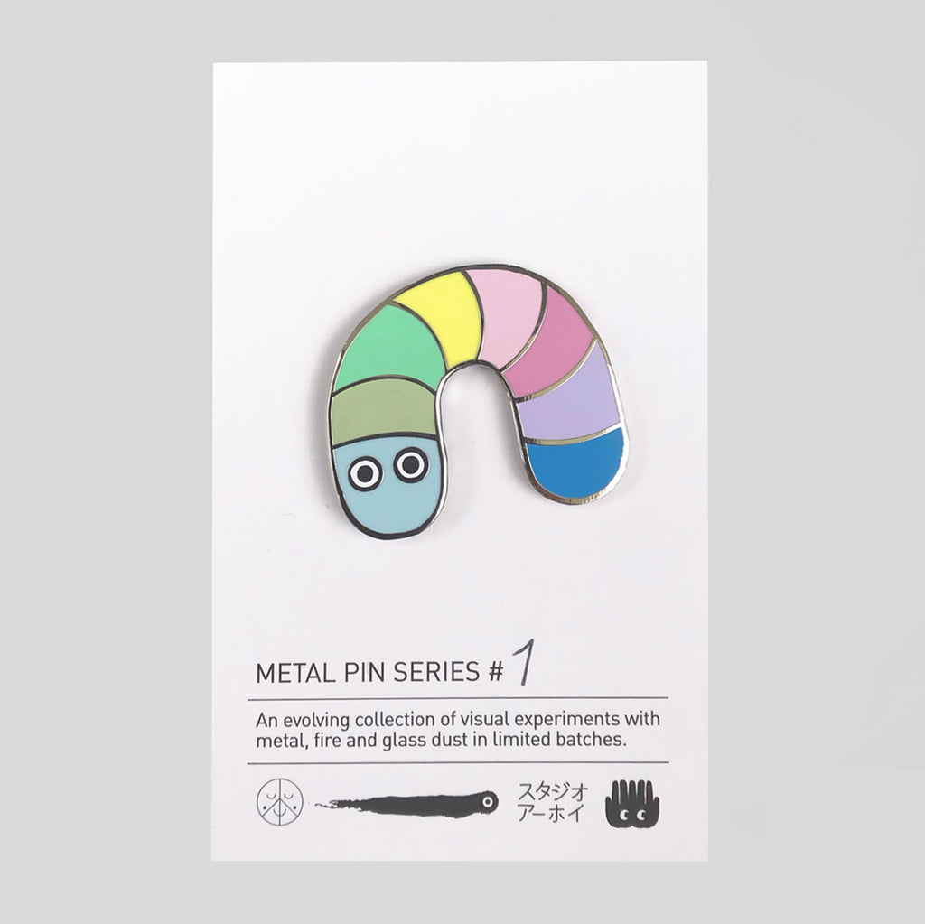 Studio Arhoj Metal Pin Series #1 - Pastel Worm - Colours May Vary